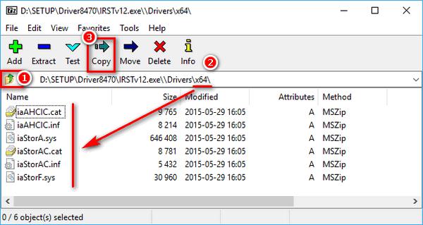 Cách tìm driver dạng INF từ file EXE với 7-zip