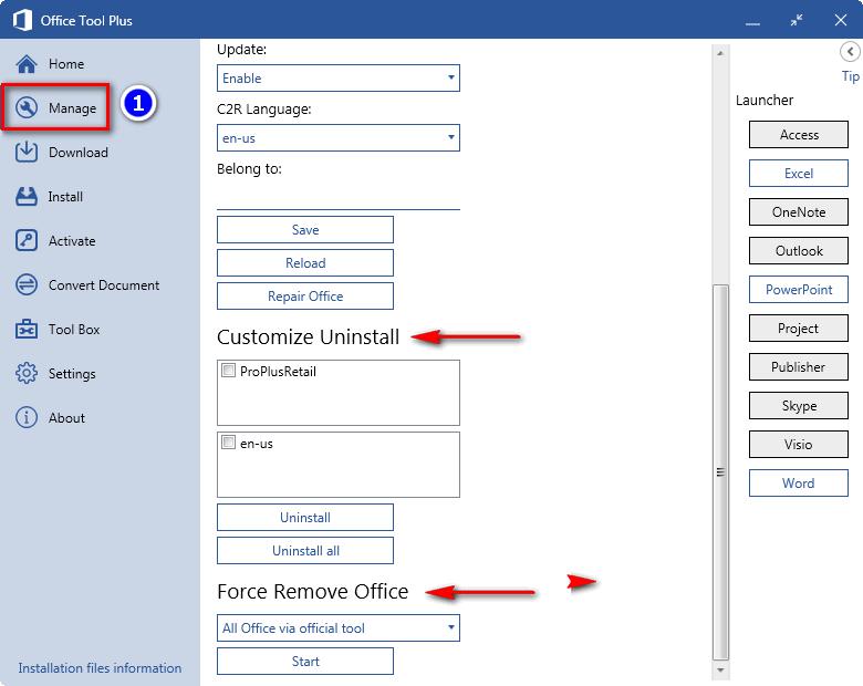 Cách tùy chọn thành phần khi cài đặt office 2019, office 365 online