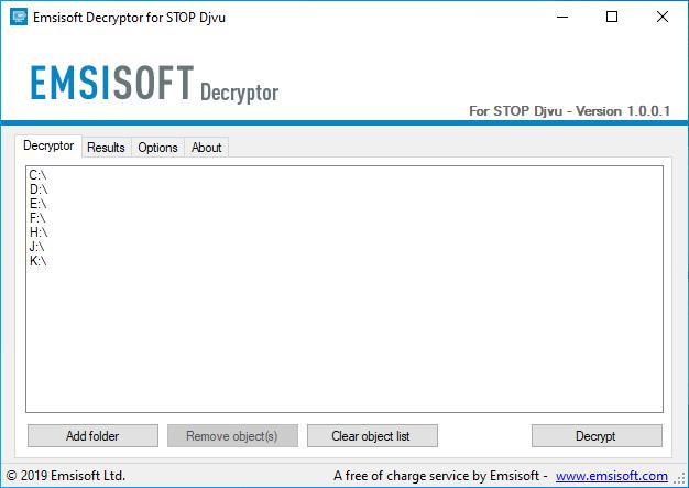 Công cụ giải mã ransomware tống tiền Stop Djivu của Emsisoft