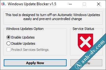 Cách bật Windows Update với Windows Update Blocker